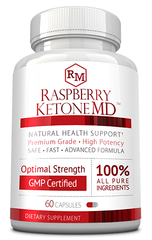 Raspberry Ketone MD ingredients bottle