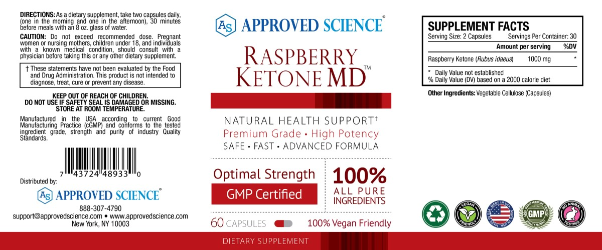 Raspberry Ketone MD Supplement Facts